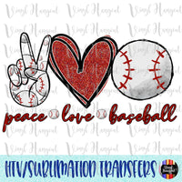 Peace Love Baseball 2 Heat Transfer Vinyl Ready To Press