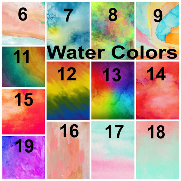 Water Color Pattern Vinyl