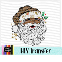 African American Santa Heat Transfer Vinyl Ready To Press