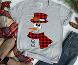 Buffalo Plaid Snowman Heat Transfer Vinyl Ready To Press