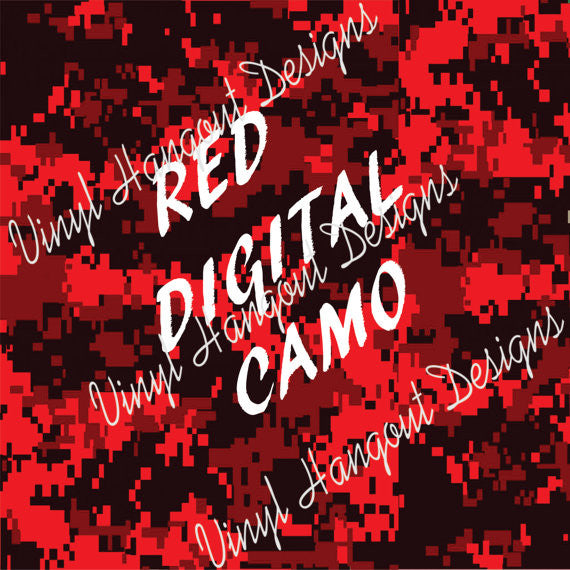 Red Digital Camo Pattern Vinyl