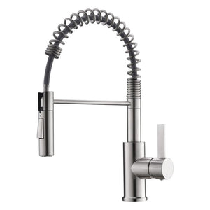 DAX-6965C-BN / SINGLE HANDLE PULL OUT KITCHEN FAUCET WITH DUAL SPRAYER AND SWIVEL SPOUT, BRASS BODY