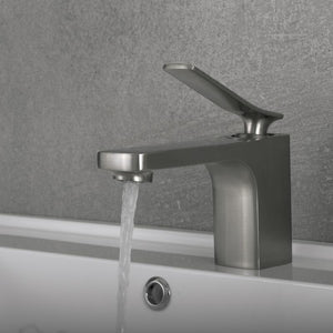 DAX-1095 / DAX SINGLE HANDLE BATHROOM FAUCET, BRASS BODY, BRUSHED NICKEL OR CHROME FINISH, 5-7/16 X 5-9/16 INCHES