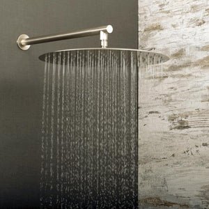 DAX-D-1230 / DAX ROUND RAIN SHOWER HEAD, ULTRA THIN, BRASS BODY, BRUSHED NICKEL OR CHROME FINISH