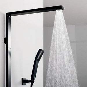 DAX-8166C-PB / DAX SHOWER SYSTEM, FAUCET SET, WITH SHOWER TUB TRIM AND HAND SHOWER, WALL MOUNT, BRASS BODY, BLACK FINISH