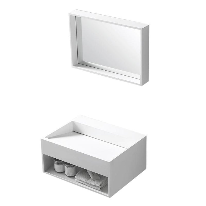 BT - SINKS Midtown Rectangular Solid Surface Wall Mounted Sink