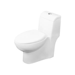 DAX-BSN-31 / DAX ONE PIECE OVAL TOILET WITH SOFT CLOSING SEAT AND DUAL FLUSH HIGH-EFFICIENCY, PORCELAIN, WHITE FINISH, HEIGHT 28-1/2 INCHES