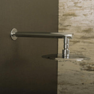 DAX-D-F04 / DAX ROUND SHOWER ARM, BRASS BODY, WALL MOUNT, BRUSHED NICKEL FINISH