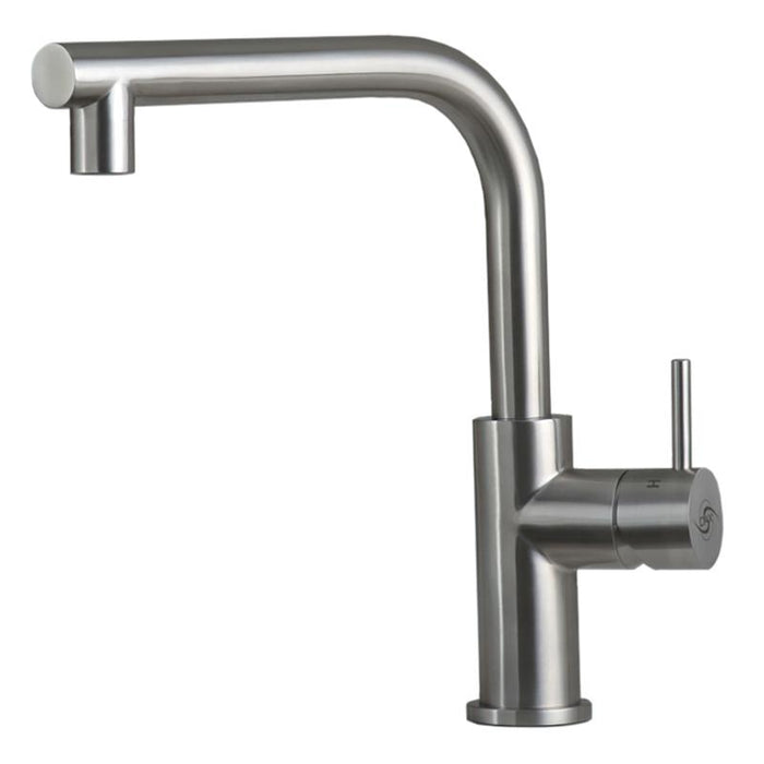 DAX-008-04 / DAX MODERN SINGLE HANDLE KITCHEN FAUCET, STAINLESS STEEL BODY, BRUSHED FINISH