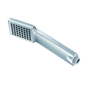 DAX-550 / DAX SQUARE HANDHELD SHOWER HEAD WITH ANGLE, L-STYLE, BRASS BODY, CHROME FINISH, 2-1/2 X 8-13/16 INCHES