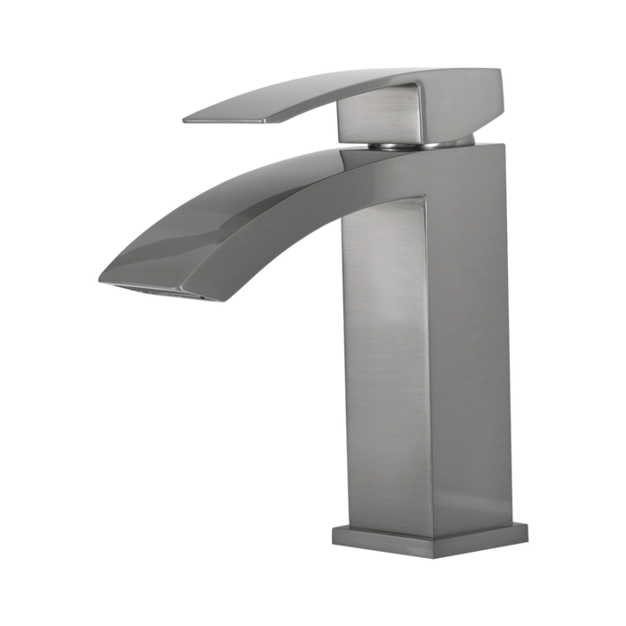 DAX-6690A / DAX SINGLE HANDLE WATERFALL BATHROOM FAUCET, BRASS BODY, BRUSHED NICKEL OR CHROME FINISH, 4-7/8 X 7 INCHES