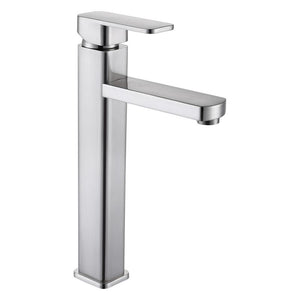 DAX-6941B / DAX SINGLE HANDLE VESSEL SINK BATHROOM FAUCET, BRASS BODY, BRUSHED NICKEL OR CHROME FINISH, 6 X 12 INCHES