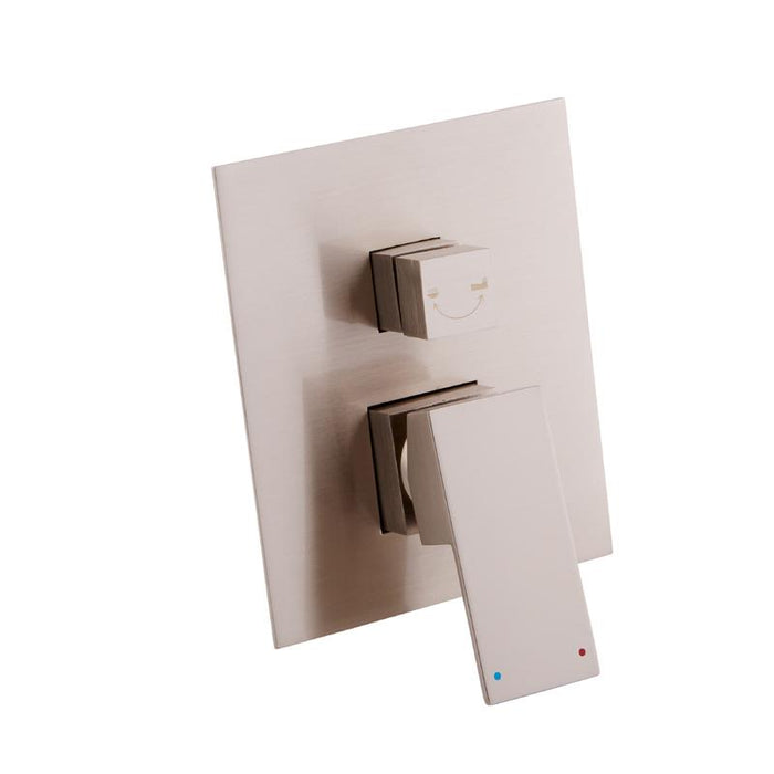 DAX-6973A / DAX SQUARE SHOWER SINGLE VALVE TRIM, BRASS BODY, BRUSHED NICKEL OR CHROME FINISH, 6-5/16 X 7-1/2 X 3-7/8 INCHES