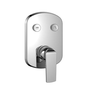 DAX-7303 / DAX SQUARE SHOWER SINGLE VALVE TRIM WITH 2 SETTING SHOWER FUNCTIONS, BRASS BODY, BRUSHED NICKEL OR CHROME FINISH