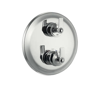 DAX-79909-CR / DAX ROUND SHOWER SINGLE VALVE TRIM WITH TEMPERATURE CONTROL, BRASS BODY, CHROME FINISH