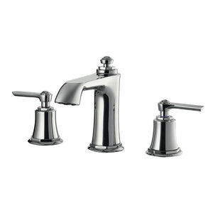 DAX-8259AC-CR / DAX TWO HANDLE BATHROOM FAUCET, BRASS BODY, CHROME FINISH, SPOUT HEIGHT 3-9/16 INCHES