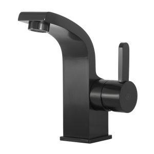 DAX-8260-PB / DAX SINGLE HANDLE BATHROOM FAUCET, BRASS BODY, MATTE BLACK FINISH, 3-15/16 X 5-15/16 INCHES