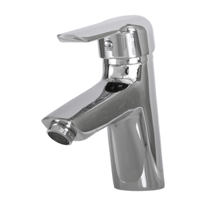 DAX-9201 / DAX SINGLE HANDLE BATHROOM FAUCET, BRASS BODY, BRUSHED NICKEL OR CHROME FINISH, 5-3/16 X 6-1/8 INCHES