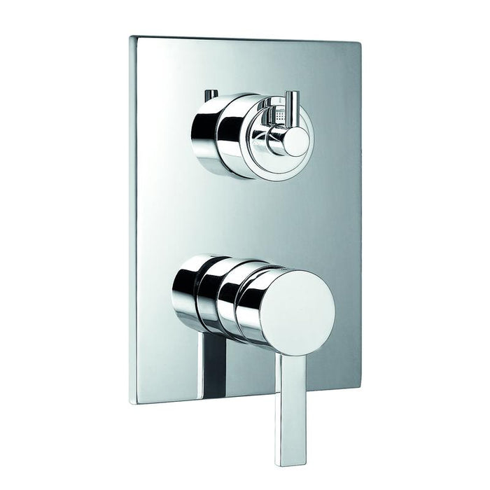 DAX-99909 / DAX SQUARE SHOWER SINGLE VALVE TRIM, BRASS BODY, CHROME FINISH