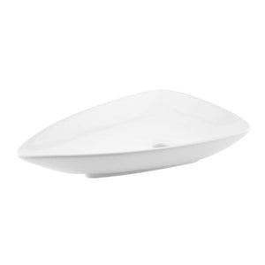 DAX-BSN-223 / DAX CERAMIC TRIANGLE SINGLE BOWL BATHROOM VESSEL SINK, WHITE FINISH, 26 X 18 X 5 INCHES