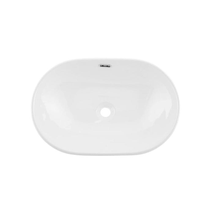 DAX-BSN-243C / DAX CERAMIC OVAL SINGLE BOWL BATHROOM VESSEL SINK, WHITE FINISH, 23 X 15-1/2 X 7 INCHES