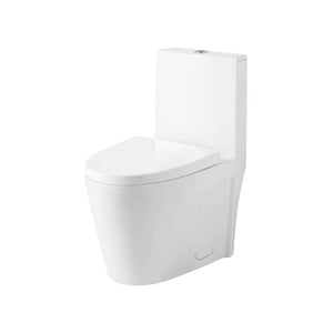 DAX-BSN-CL12011 / DAX ONE PIECE OVAL TOILET WITH SOFT CLOSING SEAT AND DUAL FLUSH HIGH-EFFICIENCY, PORCELAIN, WHITE FINISH, HEIGHT 31 INCHES