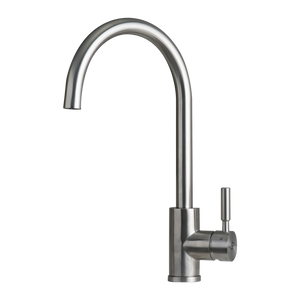 DAX-C33S / DAX MODERN SINGLE HANDLE KITCHEN FAUCET, STAINLESS STEEL BODY, BRUSHED FINISH