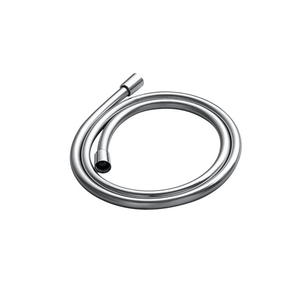 DAX-D-8861B / DAX PVC SHOWER HOSE, ROBBER BODY, SILVER FINISH, CONNECTION 1/2 INCH, 59 1/16 INCHES