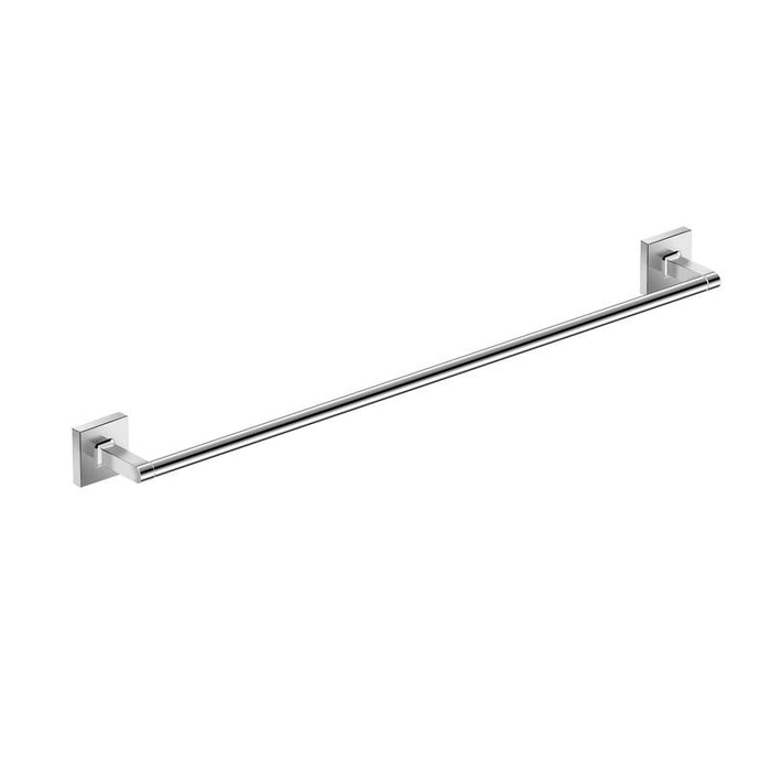 DAX-GDC160165 / DAX MILANO SINGLE TOWEL BAR, WALL MOUNT, BRASS BODY, BRUSHED NICKEL OR CHROME FINISH, 24 INCHES