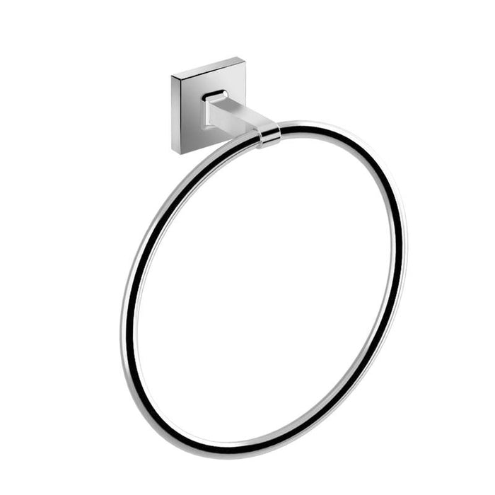 DAX-GDC160172 / DAX MILANO TOWEL RING, WALL MOUNT, BRASS BODY, BRUSHED NICKEL OR CHROME FINISH, 7-7/8 X 2-7/16 X 8-11/16 INCHES