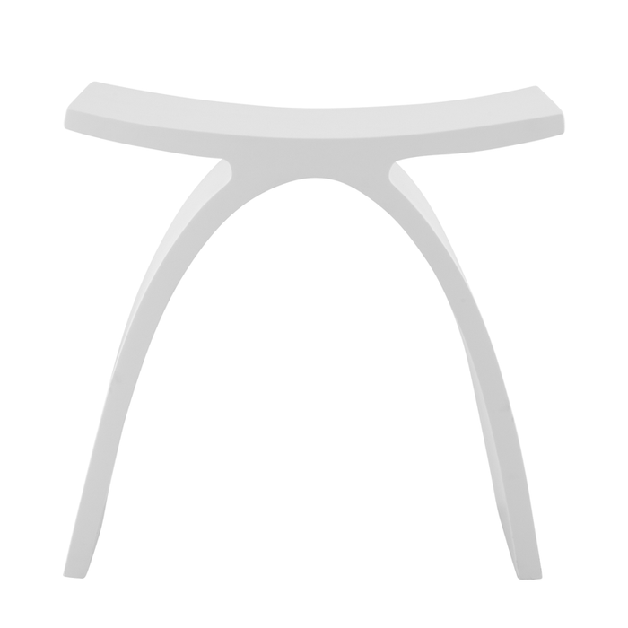 DAX-ST-01 / DAX SOLID SURFACE SHOWER STOOL, STANDFREE, MATTE WHITE FINISH, 16-3/4 X 16-3/4 X 9-1/16 INCHES