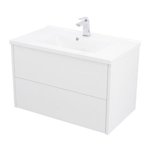 "DS2C080100 - 32"" SINGLE VANITY CABINET, WALL MOUNT, 2 DRAWERS, WHITE, ZEN"