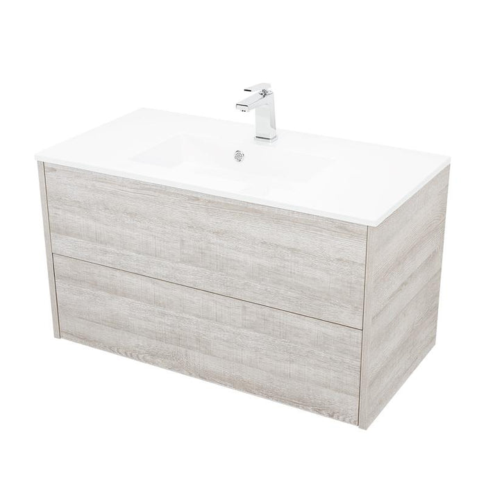 "DS2C090100 - 36"" SINGLE VANITY CABINET, WALL MOUNT, 2 DRAWERS, ZEN"