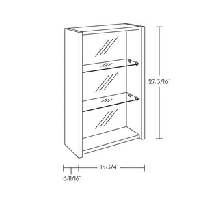 "DSE0040100 - 16"" SMALL OPEN CABINET, WALL MOUNT, ZEN"