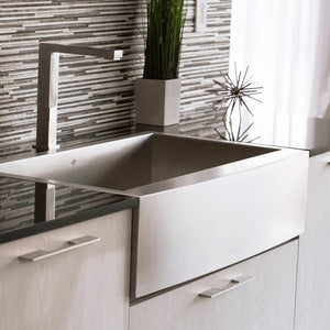 DAX-KA-SQ-3621 / DAX FARMHOUSE KITCHEN SINK, 18 GAUGE STAINLESS STEEL, BRUSHED STAINLESS STEEL FINISH