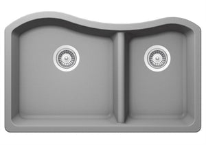 NSS / KITCHEN SINK - Double Bowl Composite Granite Sinks SIS-GR201B