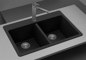 NSS / KITCHEN SINK - Double Equal Bowl Composite Granite Sinks SIS-GR202