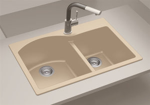 NSS / KITCHEN SINK - Double Bowl Composite Granite Sinks SIS-GR204