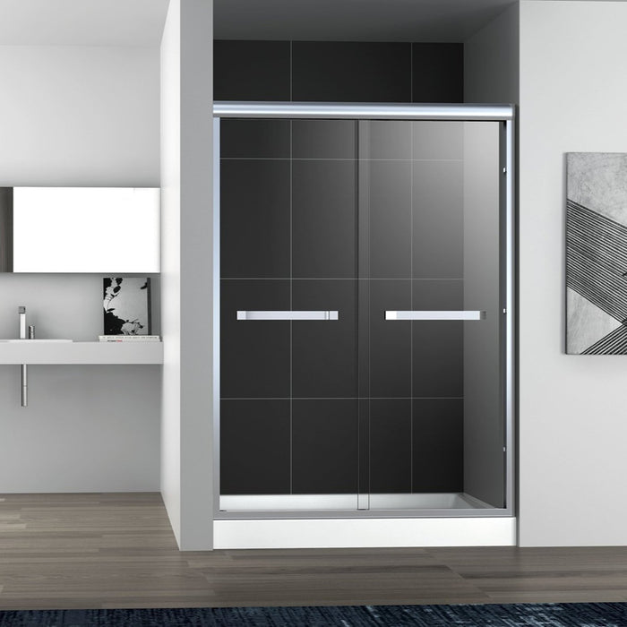 BT - SHOWER DOOR Sienna Semi- Frameless Bypass Sliding Shower Door
