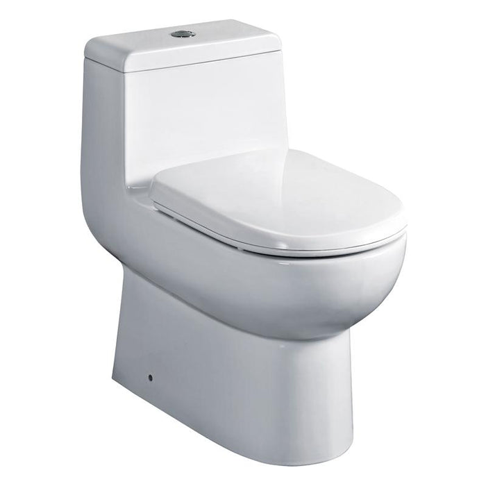 BT TOILETS - Eago 351 Dual Flush Elongated One Piece Toilet