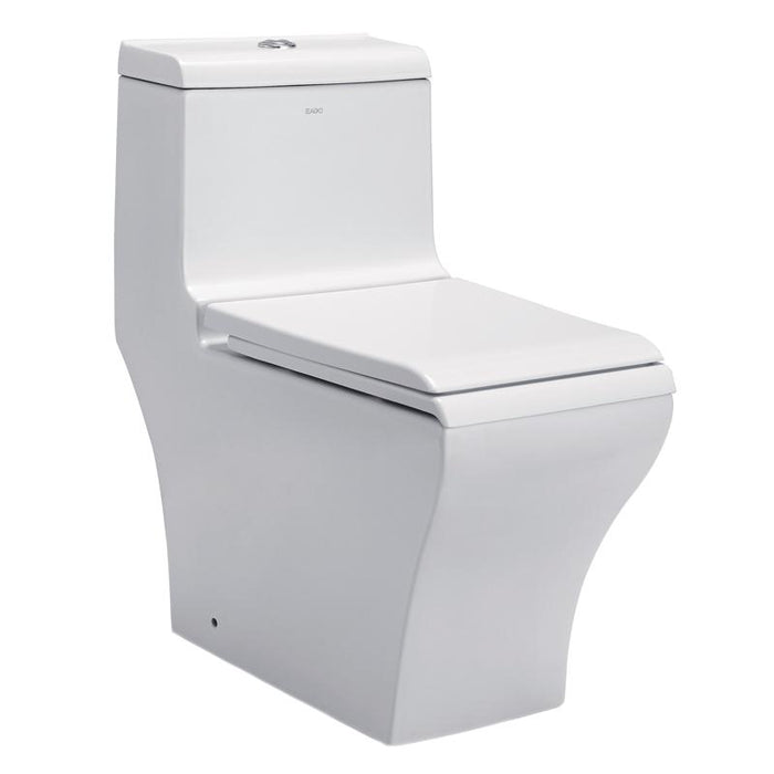 BT TOILETS - Eago 356 Dual Flush Elongated One Piece Toilet