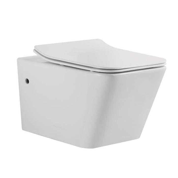 BT TOILETS - Aquamoon 708 Square Wall-Hung Elongated One Piece Toilet