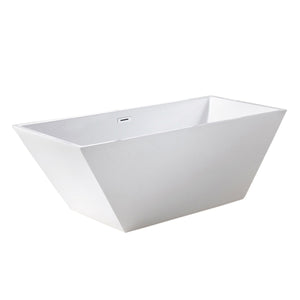 "BT TUBS - Spazio 60""/67"" Acrylic Freestanding Bathtub"