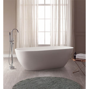 Flux Solid Surface Oval Bathtub