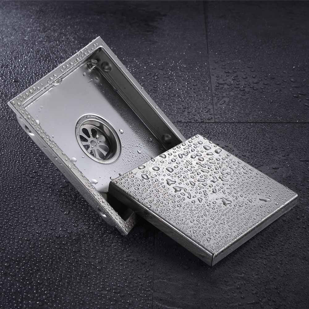 Free Shipping Tile Insert Square Floor Waste Grates Bathroom