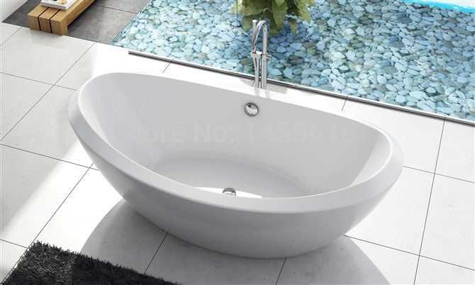 71' Sea Shipping Freestanding bathtub and Acrylic +ABS composite board Piscine Soaking Hot tub  W8025