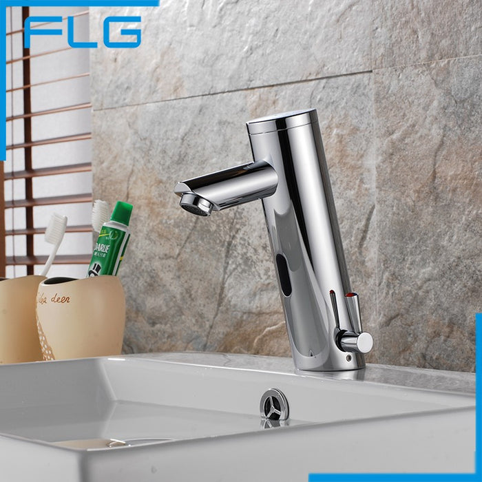 Motion Sensor Faucet  Automatic Hand Touchless Tap Hot Cold Mixer Bathroom Sink Infrared Faucet Mixer