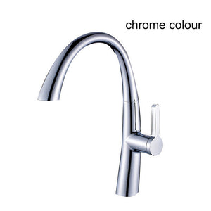 Hot Sale New Pull Out Spring Kitchen Faucet White Painting Brass Vessel Sink Mixer Tap Sprayer Swivel Spout Mixer Tap