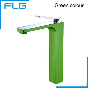 Free Shipping New Arrival Bathroom Gold Basin Faucet Gold Finish Brass Mixer Tap Tall torneiras para banheiro FLG100001
