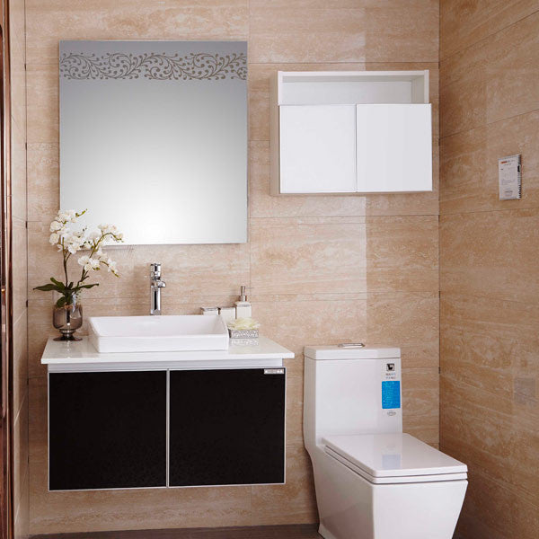 New Design Cheap French Wall-mounted Lowes Bathroom Vanity Cabinet  OP14-013